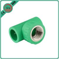 Quality Reliable PPR Female Threaded Tee Green / White Color Smooth Internal Surface for sale