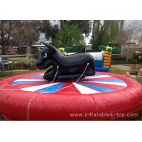 Buy Amusement Park Inflatable Sports Games Giant Mechanical Rodeo Bull With Inflatable Mattress at wholesale prices