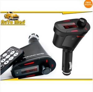 Free Shipping Wireless Car cigarette Mp3 FM Modulator Transmitter USB SD Music Player + Remote