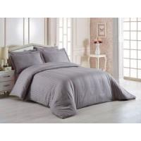 Quality Comfortable Hotel Bed Linen , 400T 3cm Satin Stripe 100% Cotton Bedding Sets for sale