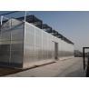 Multi Span Large Aluminium Greenhouse Span Width 9.6 / 10.8 / 12m Snow Load .45KN/m2 for sale