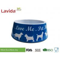 Buy cheap Light Weight Non - Odor Melamine Cat Food Bowls Mixed Color High Strength from wholesalers