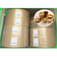 China Weight 10gsm - 20 gsm FDA approved One side plastic coated kraft paper in rool on sale