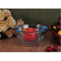 Quality Transparent Heat Resistant Glass Salad Bowls Glass Oven Bowls with 6 Different Sizes for sale