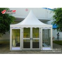 Buy Fire Retardant 6 By 6 Festival Party Tent Pagoda Shape With Curtain Decoration at wholesale prices