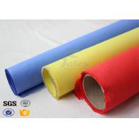 Quality Red Silicone Rubber Coated Fiberglass Engineer Acoustic Insulation Fabric Material for sale