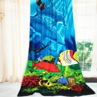 Quality Dolphin Oversized Beach Towels Blanket Two Sea Floor Pattern Sheets for sale