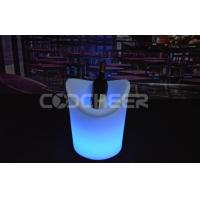 Quality Food Grade White PE Light Up Ice Bucket Rechargeable Lithium Battery for sale