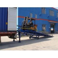 Quality Blue 10 Ton Mobile Dock Ramp For Container , Portable Loading Ramps For Trucks for sale