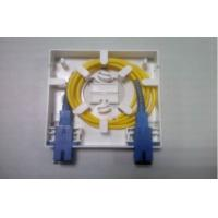 Quality ABS Material FTTH 2 Ports Sc Fiber Optic Faceplate for sale