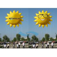 Quality Smile Sun Flying Custom Inflatable Balloons Air Advertising With 5M Tether Line for sale