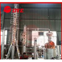 Quality Steam Heating Copper Distiller System 3MM Thickness , Diy Reflux Still for sale