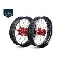Quality 18 Inch CNC Aluminium Aftermarket Motorcycle Wheels ,  Black Motorcycle Rims With Hub for sale