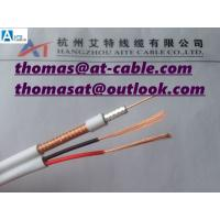 China RG59/U Siamese Coaxial 2C/18 Guage Electrical Wire 1000ft PVC or Plenum on sale