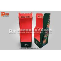 Quality 3 Tiers Cardboard Floor Display Stands For Red Wine Promotion for sale
