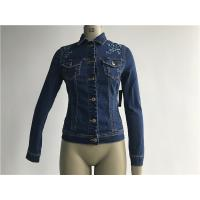China Customized Embroidered Jean Jacket , Ladies Stretch Denim Jacket TW78599 on sale