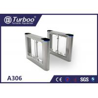 Quality High Speed Flap Barrier Gate / Controlled Access Gates With Infrared Sensors for sale