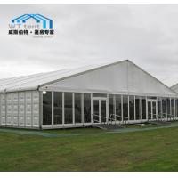 China Commercial Expo Outdoor Market Tent Glass Walls Corrosion Resistance on sale