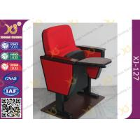 Quality Lecture Hall Folding Theater Seats Small Back Fixed Auditorium Chairs With Writing Pad for sale