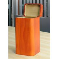 Quality Handmade Wood Jewelry Boxes For Women Large Storage Case , Orange Color for sale