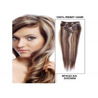 Quality Piano Color 100 Virgin Remy Hair Extensions Silk And Soft Straight Hair for sale