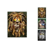 Quality Hotel Decoration Lenticular Flip Picture / 0.6mm PET 3 In 1 3D Animals Photos for sale