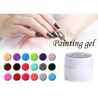 Quality Colorful Nail Art Gel Paint / No Chemical Nail Polish European Standard for sale