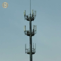 Quality Galvanized GR50 Telecommunication Post For Wireless Internet for sale