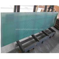 China Blue Coated Silkscreen Printed Glass For Table Tops , Bulletproof on sale