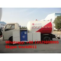 Quality hot sale CLW brand best price 5000Liters lpg gas dispensing truck, CLW brand 95hp 2ton mini cooking gas dispensing truck for sale