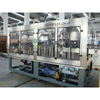 Quality Multi-Head Automatic Beer Filling Machine 3-in-1 Glass Bottle With Rotary Structure for sale