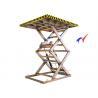 Buy cheap Warehouse Stationary Scissor Lift , 2500 × 1500 Platform Electric Mini Scissor Lift from wholesalers