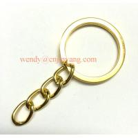 Quality jiayang high quality gold color flat keyring with link chains and 8 hooks for sale