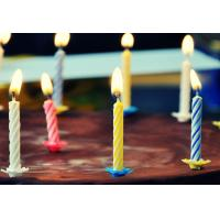 Quality 4 Colors 24Pcs Swirl Birthday Candles With Holders For Children Party Food Grade for sale