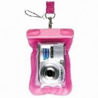 Quality Waterproof Mobile Phone Pouches, and also for Camera, Made of PVC for sale