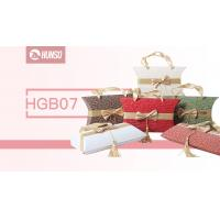 Quality Fashion Style Stackable Gift Boxes Pillow Boxes Silk Handle Heat Transfer for sale