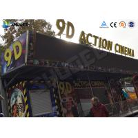 Quality 12 / 16 / 24 People 9D Movie Theater With Motion Chair For Amusement Park for sale