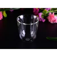 Quality Super Clear Double Wall Borosilicate Glass /  Party Double Wall Glass Tumbler 8.6*4.3*10cm for sale