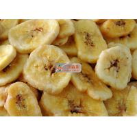 Quality Natural Sweet Freeze Dried Banana Chips No Added Sugar Longer Shelf Life for sale