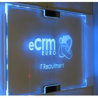 Buy Custom RGB LED Lighted Laser Engraving Acrylic Edge Lit Sign Base at wholesale prices