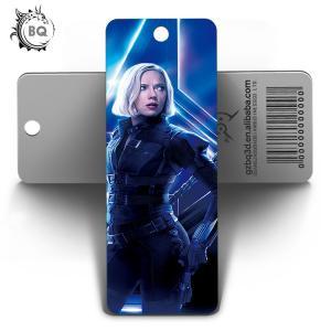 Quality Marvel Heros Design PET 3D Lenticular Bookmark 0.6mm PET+157g Coated Paper for sale