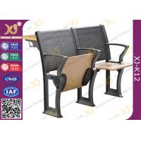 Quality Metal / Plywood Bottom Book Rack College Classroom Furniture With Folding Tablet for sale