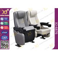 Quality Plastic Shell Leather Cinema Theater Chairs With Tip-up Seat / Lecture Hall Seating for sale