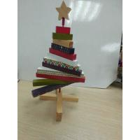 Quality Mini Christmas Wooden Tree ,  Artistic Wood Crafts Colorized 180 X 250 X 20mm for sale