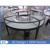 Watch Jewelry Display Cases with Mirror Stainless Steel Frame + Wooden Cabinet+ Glass + Lights