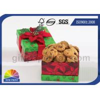 Quality Cookie / Chocolate Food Packaging Box , Customized Gift Wrapping Boxes with Art Paper for sale
