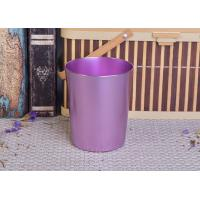 Unique violet color painted home decor refilled metal candle holders