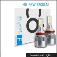 Quality Car Accessories LED H9 Headlight Bulb Lamp 6000K 36W 3800LM LED Headlight White C6 for sale