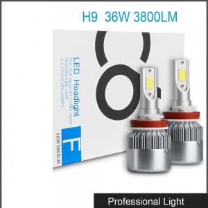 Quality Car Accessories LED H9 Headlight Bulb Lamp 6000K 36W 3800LM LED Headlight White C6 for sale