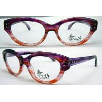 Quality Unique Oval Flexible Acetate Womens Eyeglass Frames For Promotion 45-17-135mm for sale